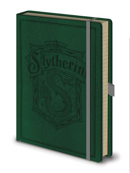 Harry Potter Slytherin Leather Look A5 Notebook
